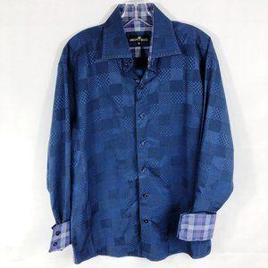 Bertigo | Purple Multi Pattern Button Down Shirt